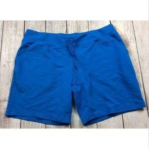 Danskin Now Jersey Knit Shorts Blue Isle Pockets